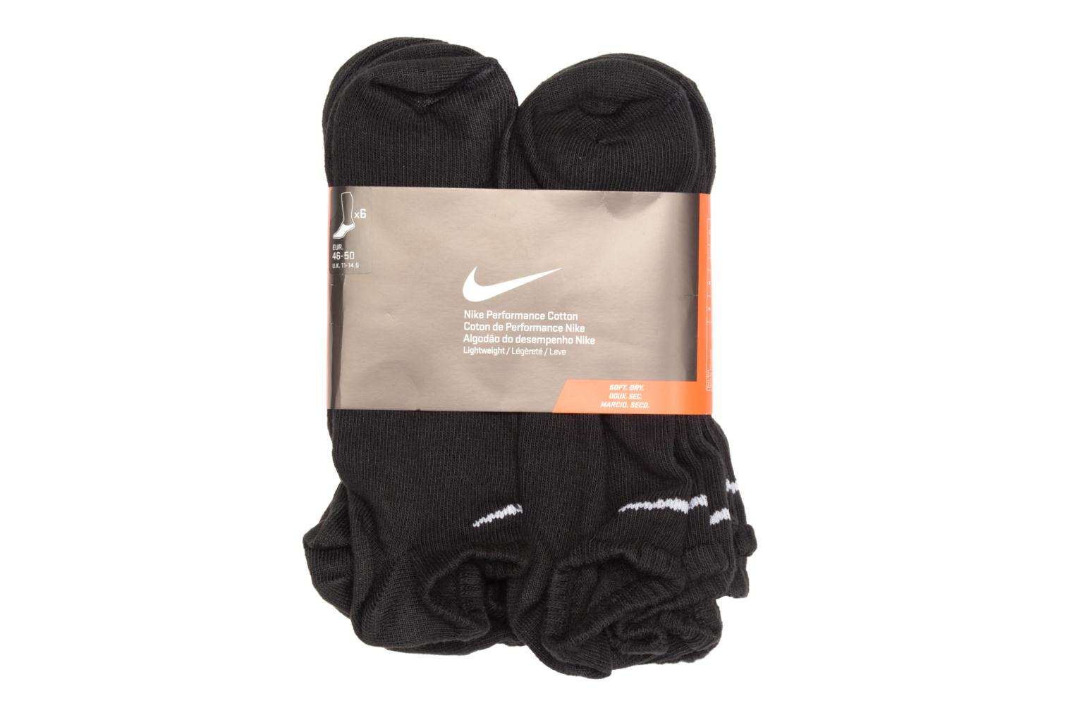 Socks & tights Nike PERF LTWT NS 6PR Black back view