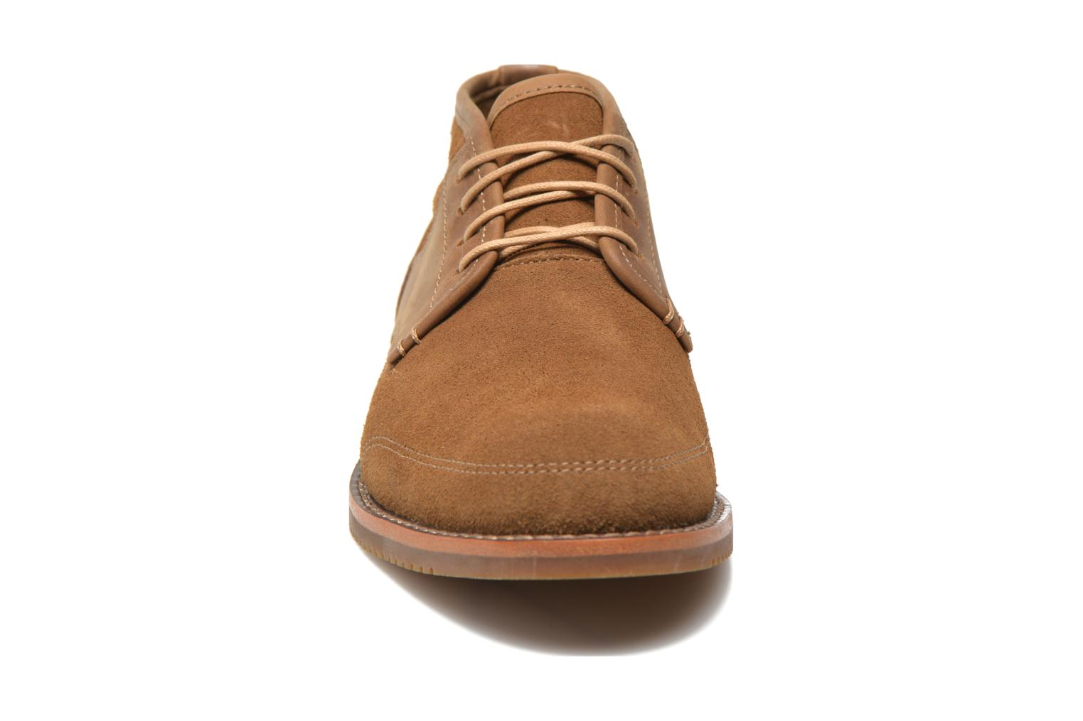 Chaussures à lacets Timberland Brooklyn Park Leather Ox High Marron vue portées chaussures