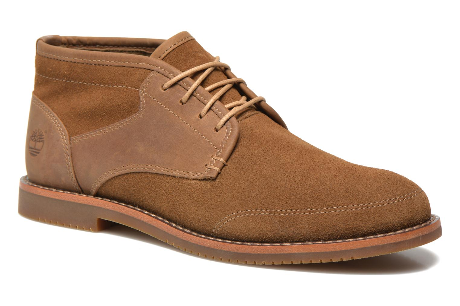 Chaussures à lacets Timberland Brooklyn Park Leather Ox High Marron vue détail/paire