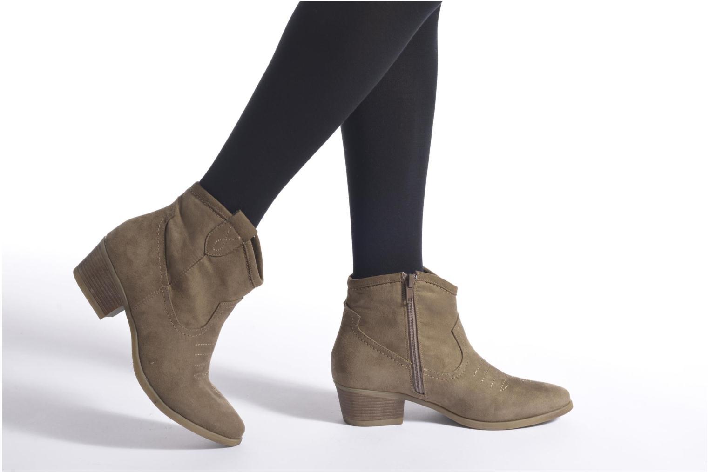 Bottines et boots I Love Shoes THOVE Noir vue bas / vue portée sac