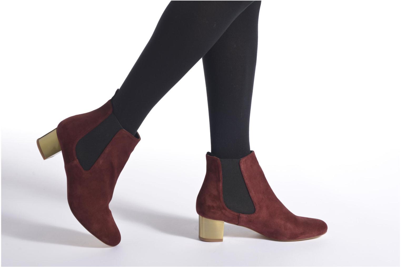 Bottines et boots Avril Gau Ralphmet Bordeaux vue bas / vue portée sac