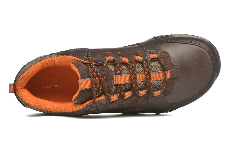 Sneaker Merrell Helixer Scape braun ansicht von links