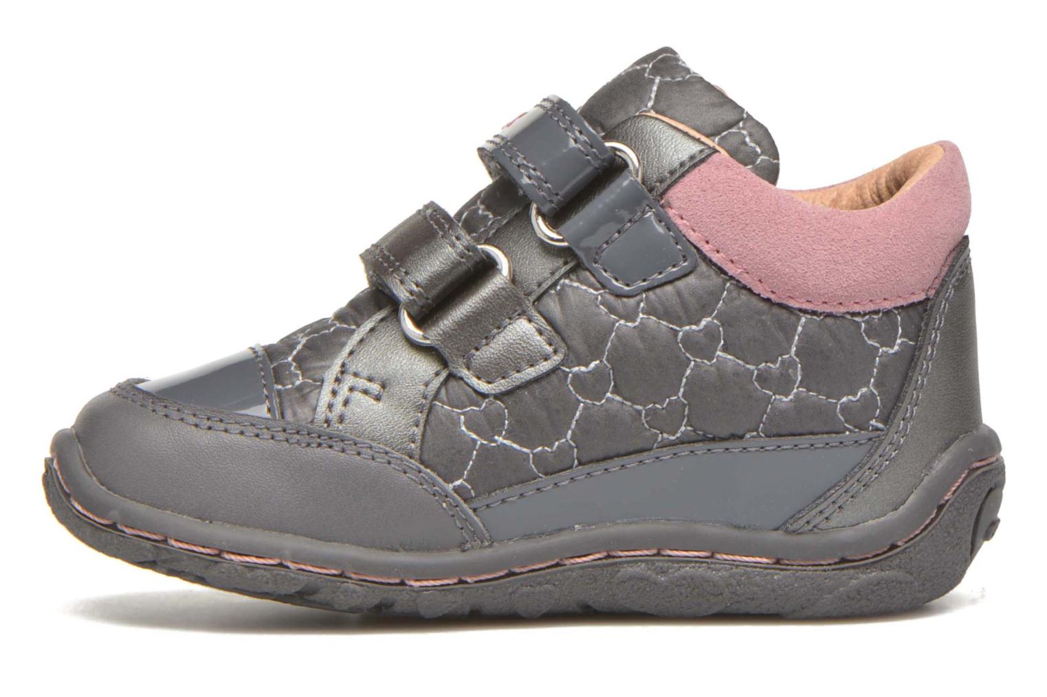Trainers Geox Baby Lolly B5434I Grey front view