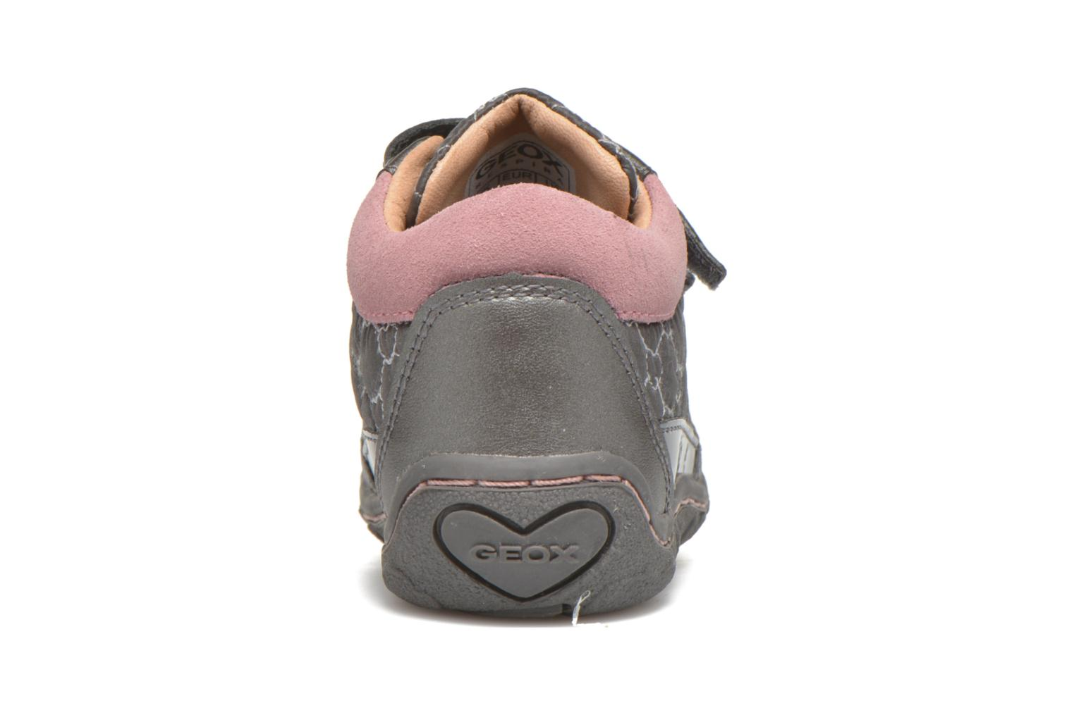 Baskets Geox Baby Lolly B5434I Gris vue droite