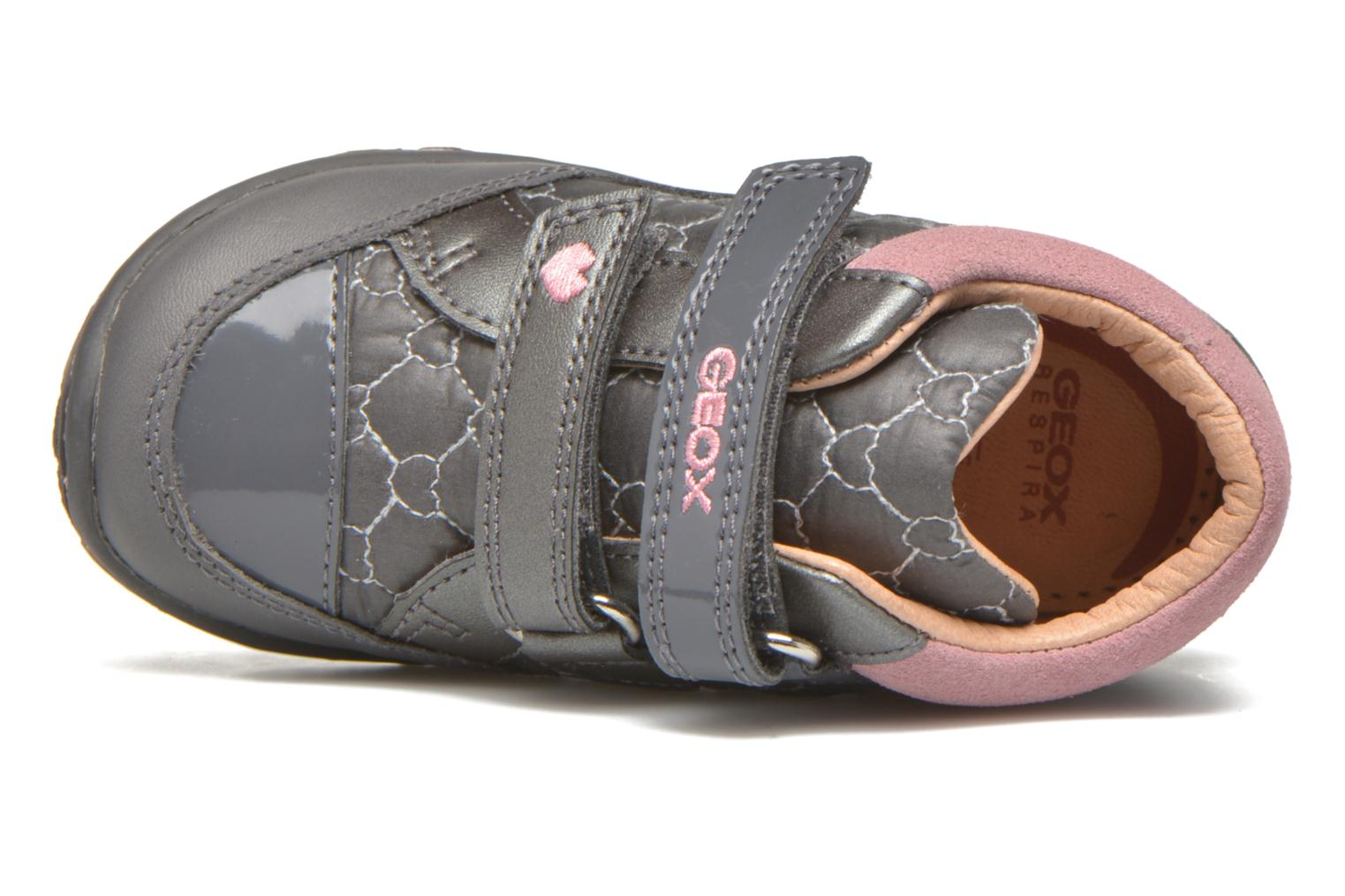 Trainers Geox Baby Lolly B5434I Grey view from the left