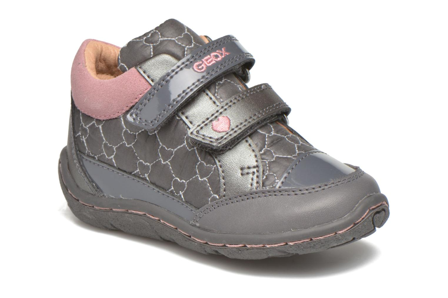 Trainers Geox Baby Lolly B5434I Grey detailed view/ Pair view