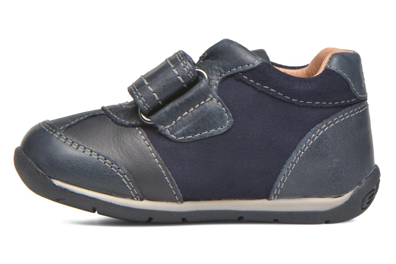 Chaussures à scratch Geox B Each Boy B540BD Bleu vue face