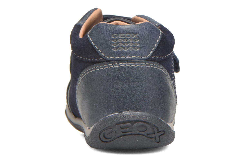 Chaussures à scratch Geox B Each Boy B540BD Bleu vue droite