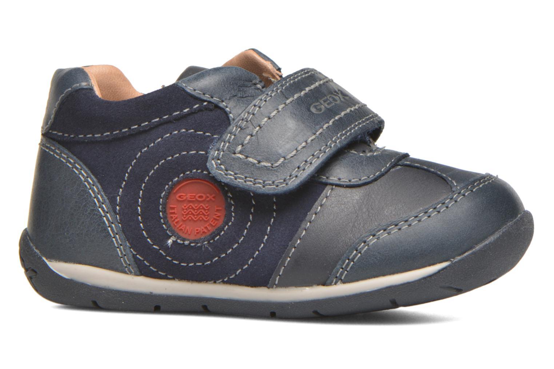 Chaussures à scratch Geox B Each Boy B540BD Bleu vue derrière