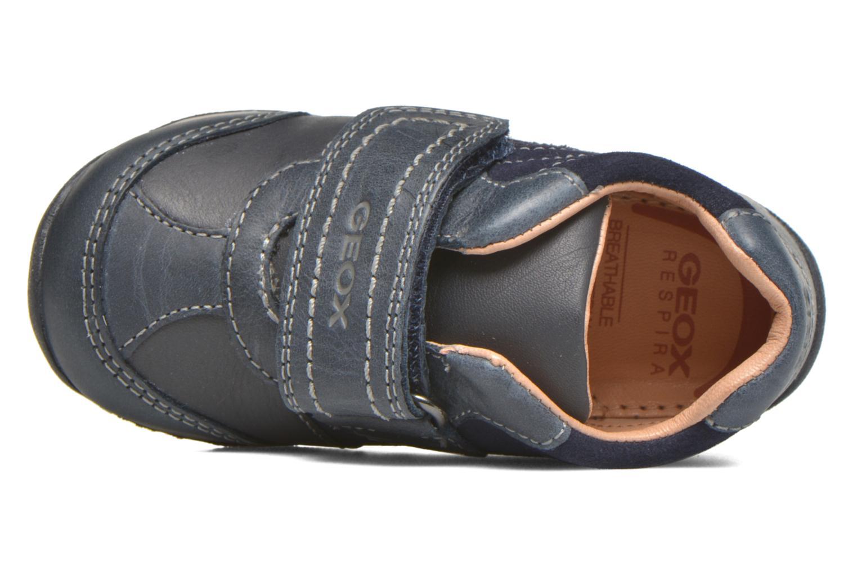 Chaussures à scratch Geox B Each Boy B540BD Bleu vue gauche