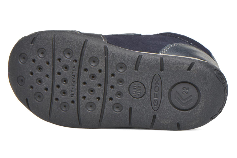 Chaussures à scratch Geox B Each Boy B540BD Bleu vue haut