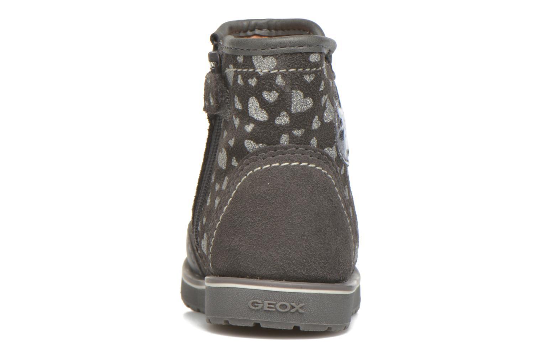 Bottines et boots Geox Baby Noha B5460A Gris vue droite