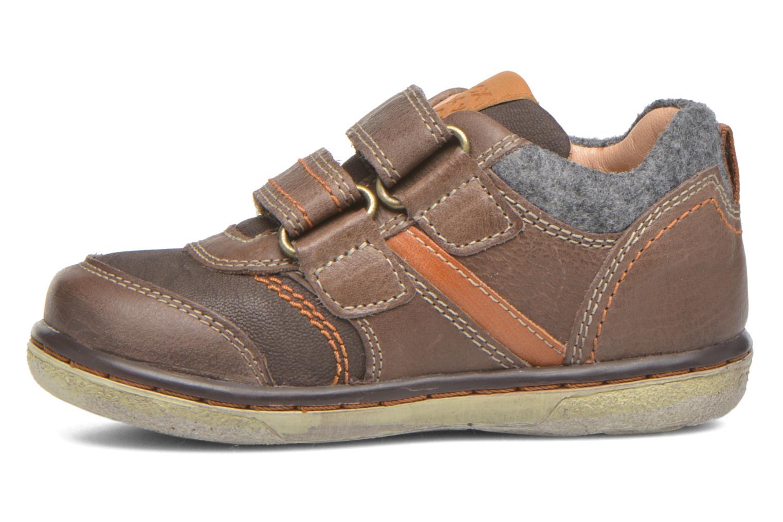 Sneaker Geox Baby Flick Boy B5437I braun ansicht von vorne
