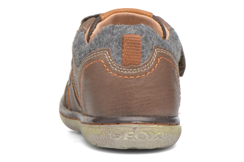 Sneaker Geox Baby Flick Boy B5437I braun ansicht von rechts