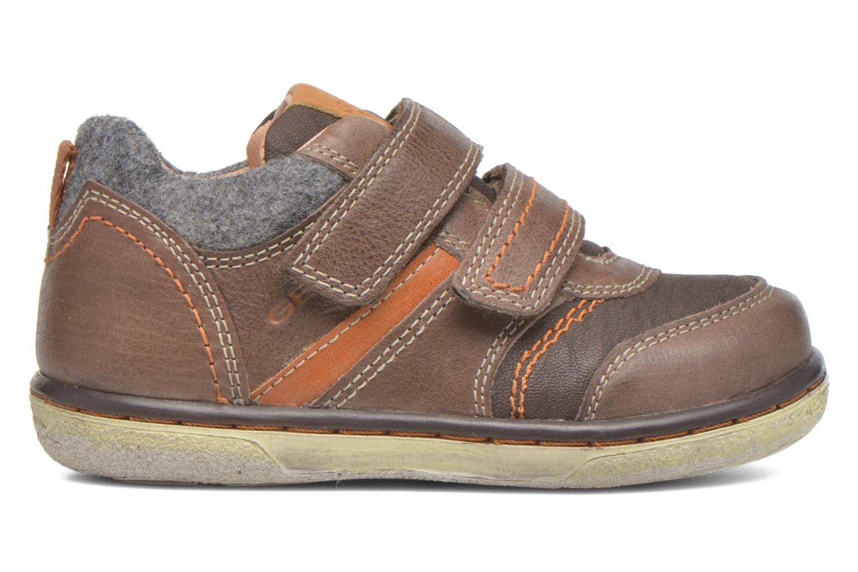 Sneaker Geox Baby Flick Boy B5437I braun ansicht von hinten