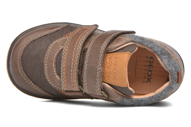 Sneaker Geox Baby Flick Boy B5437I braun ansicht von links