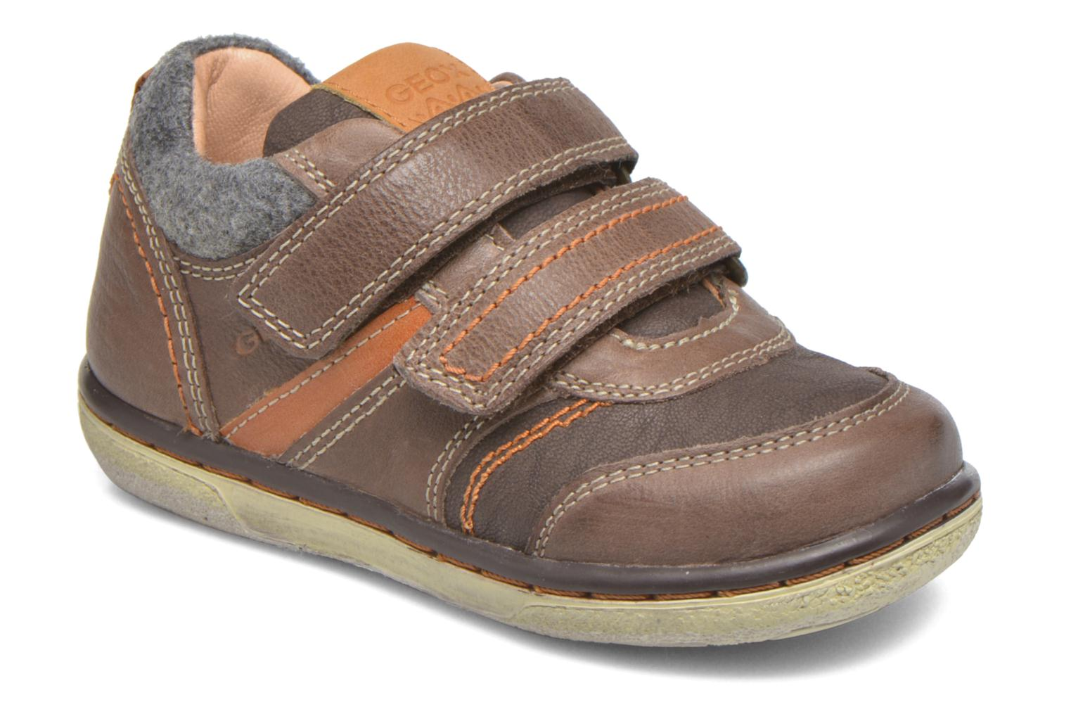 Baskets Geox Baby Flick Boy B5437I Marron vue détail/paire