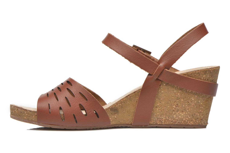 Sandales et nu-pieds TBS Riffah Marron vue face