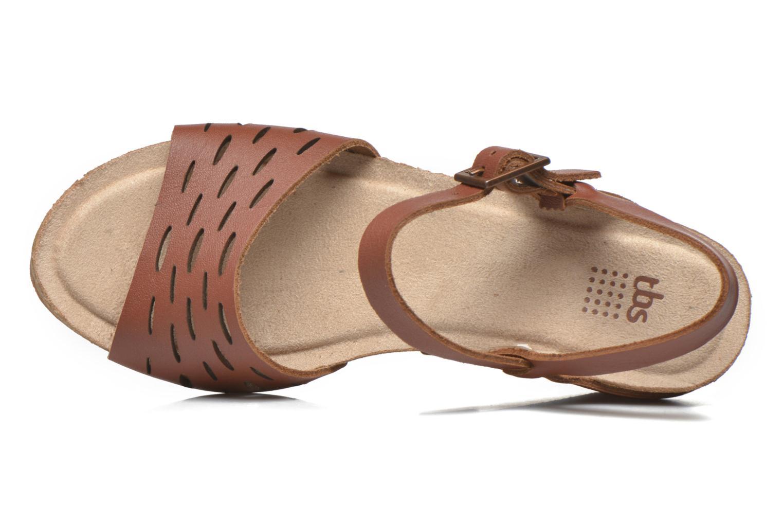 Sandales et nu-pieds TBS Riffah Marron vue gauche