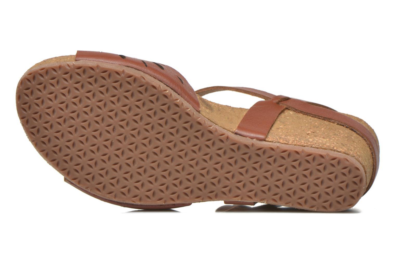 Sandales et nu-pieds TBS Riffah Marron vue haut