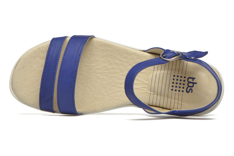 Sandales et nu-pieds TBS Nikkia Bleu vue gauche