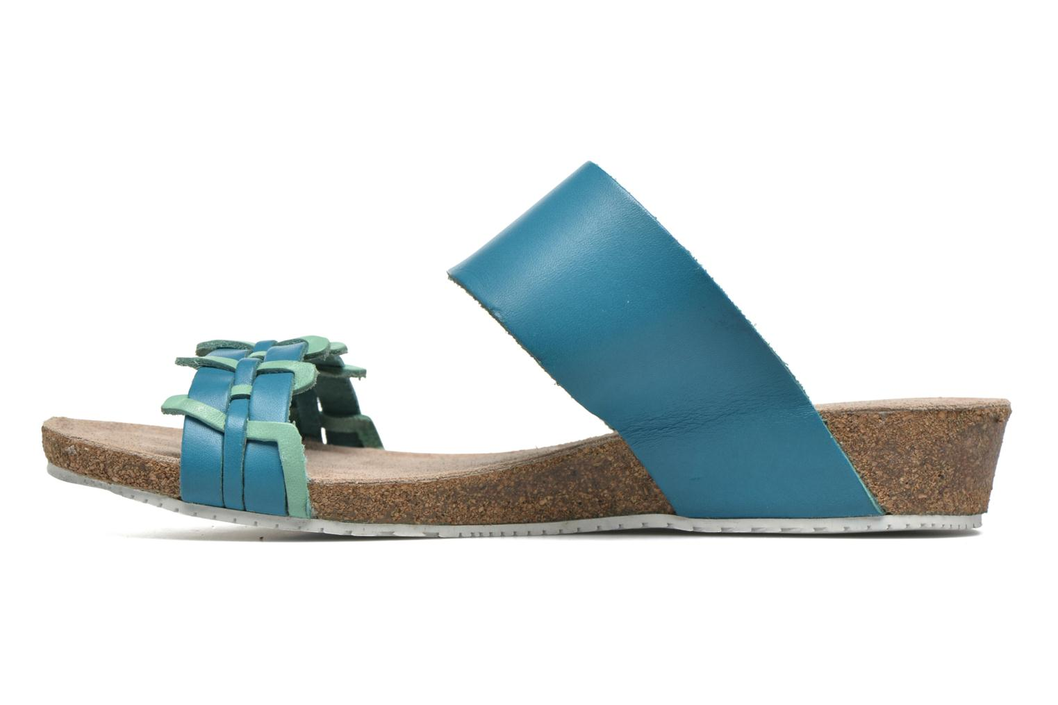 Sandals TBS Kazuno Blue front view