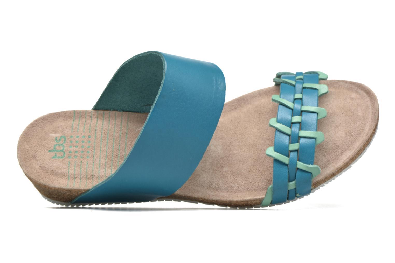Sandalias TBS Kazuno Azul vista lateral izquierda