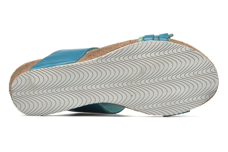 Sandales et nu-pieds TBS Kazuno Bleu vue haut
