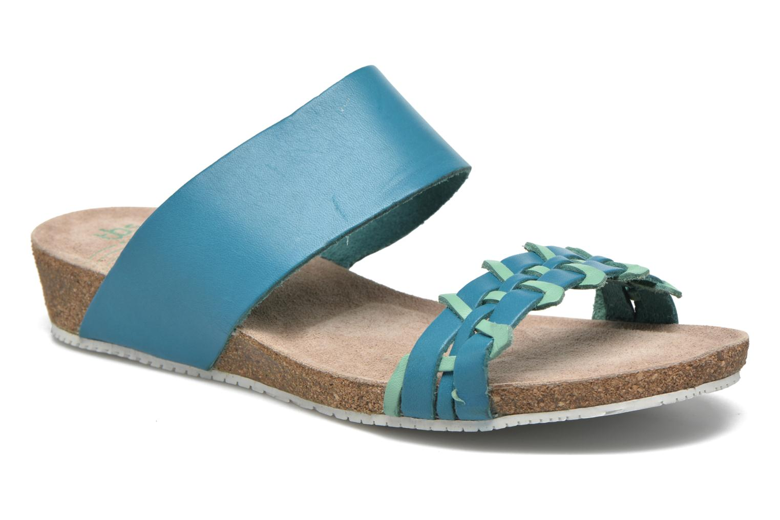 Sandals TBS Kazuno Blue detailed view/ Pair view