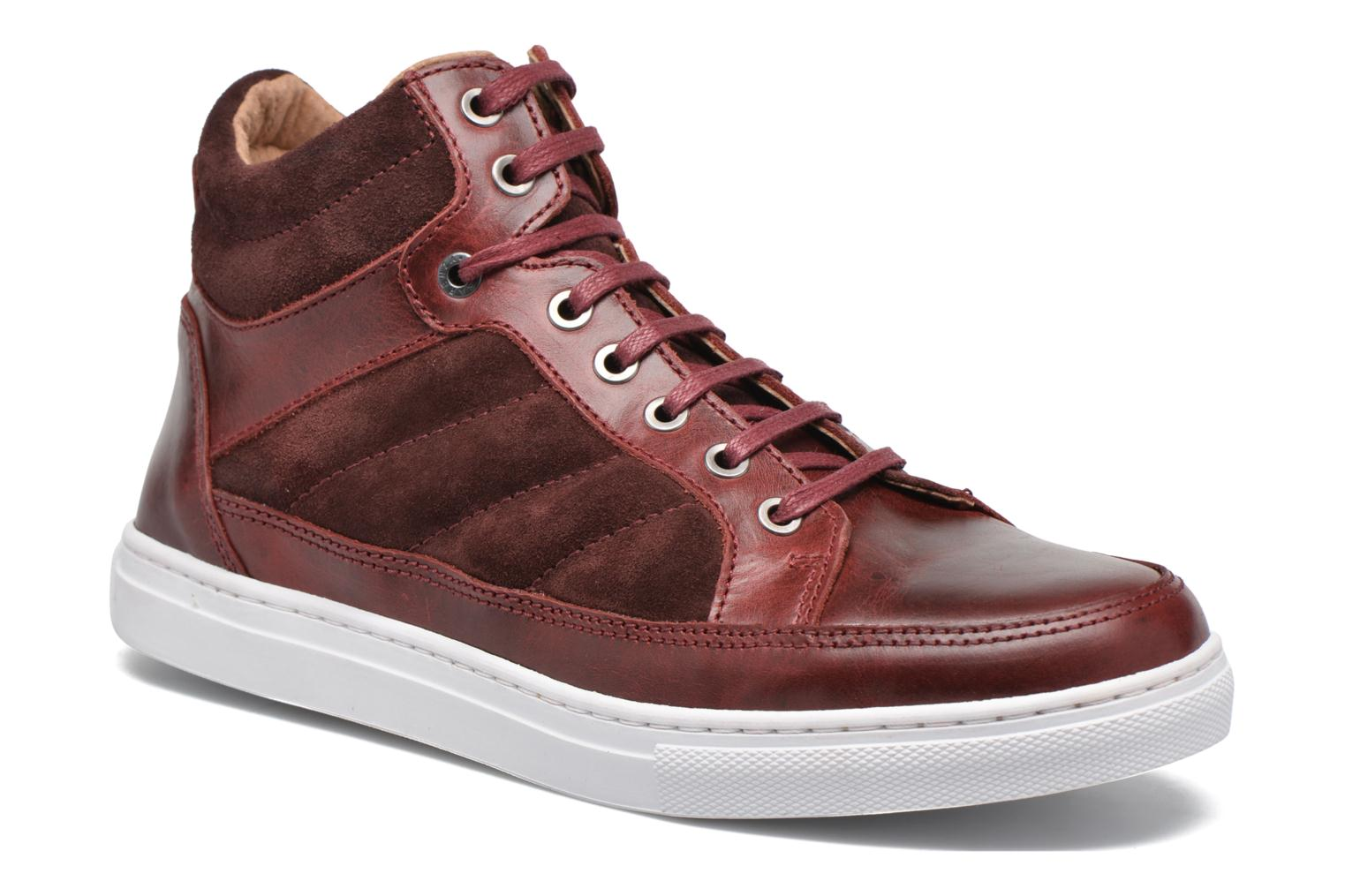 Trainers Mr SARENZA Stryges Burgundy view from the right