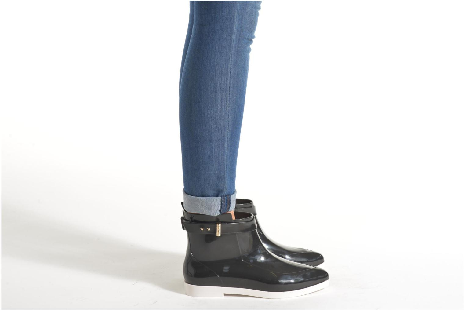 Ankle boots Melissa Melissa Françoise Black view from underneath / model view