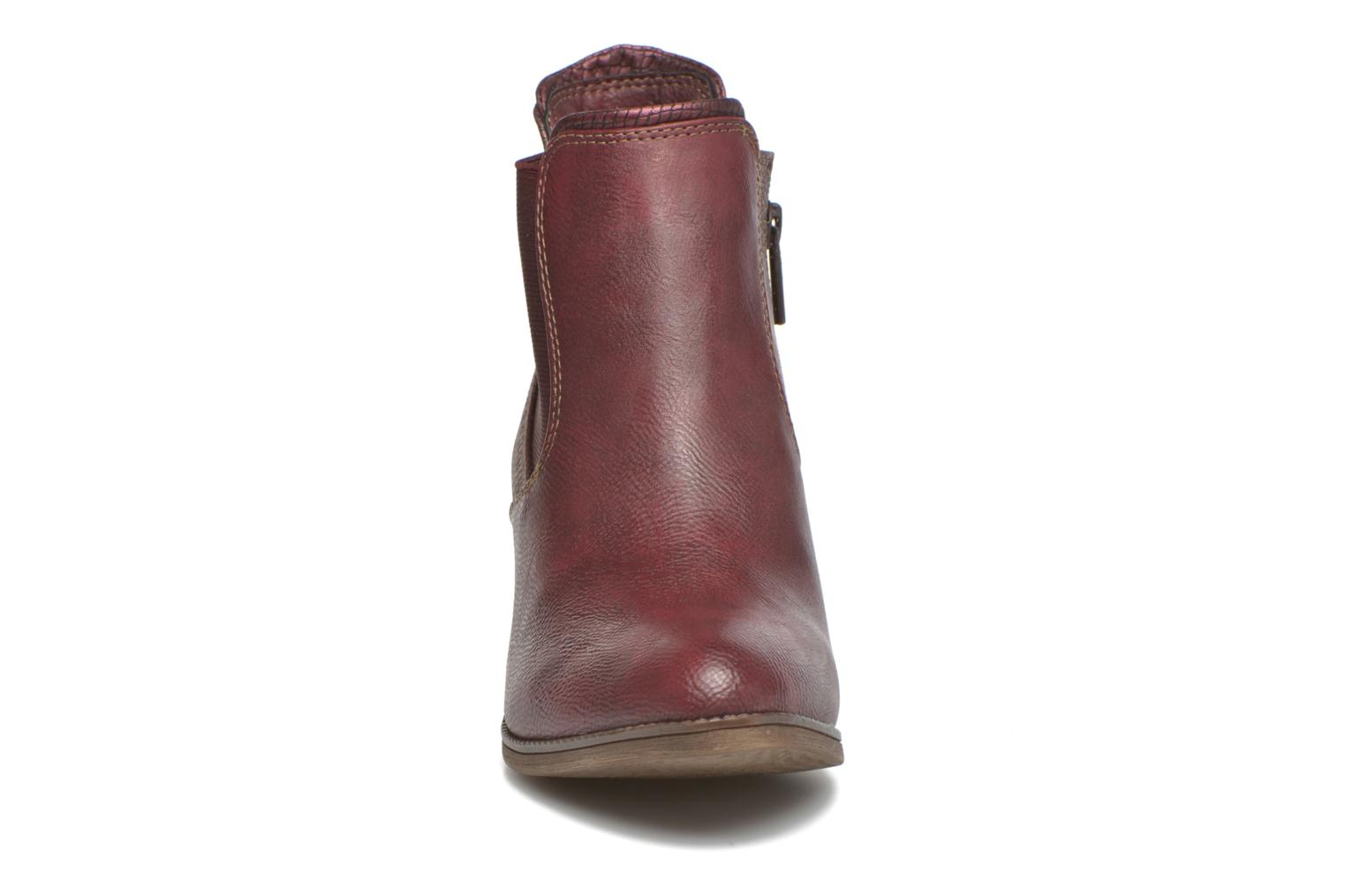 Ankle boots Mustang shoes Mustea Burgundy model view