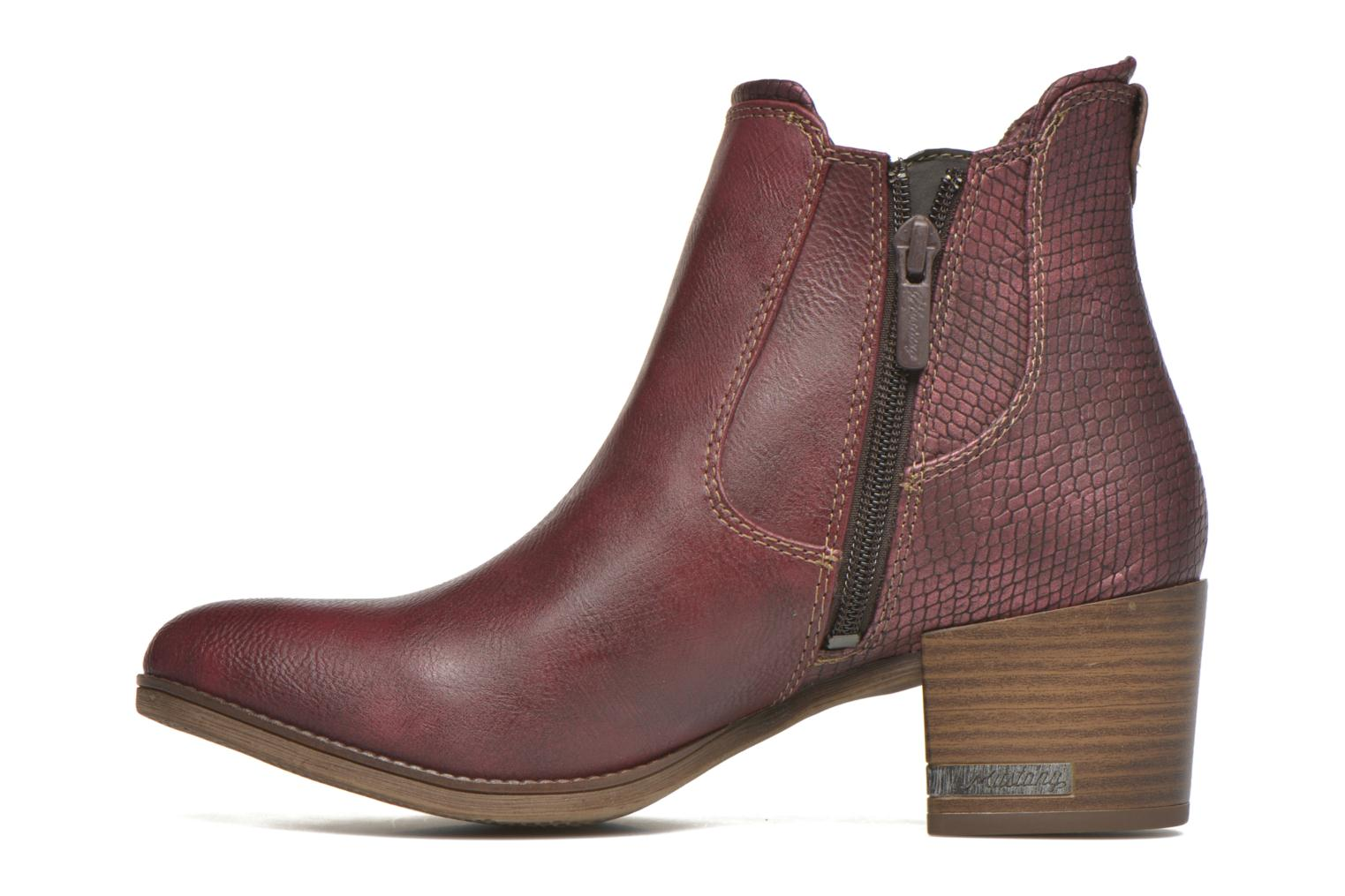 Ankle boots Mustang shoes Mustea Burgundy front view