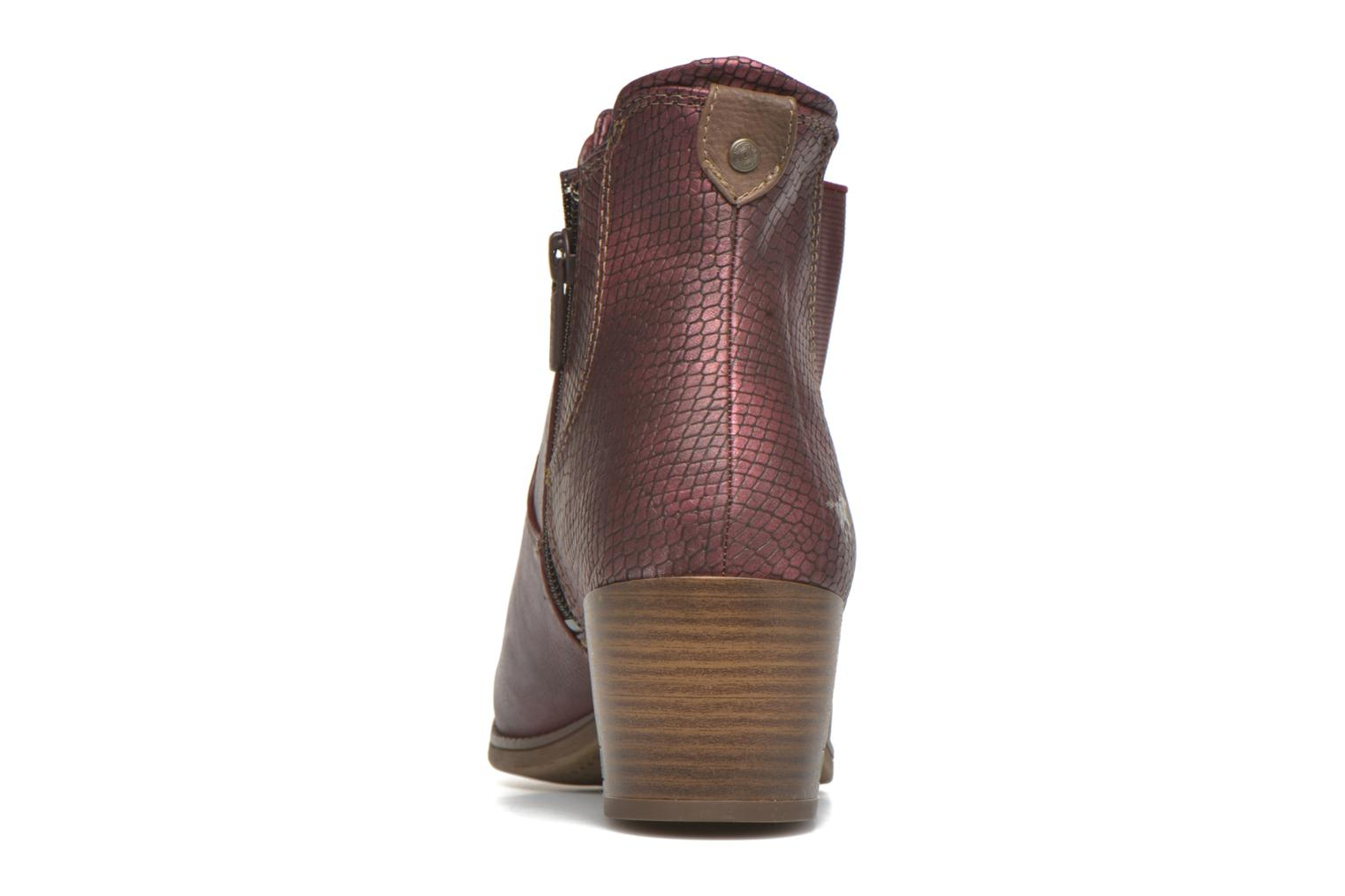 Ankle boots Mustang shoes Mustea Burgundy view from the right