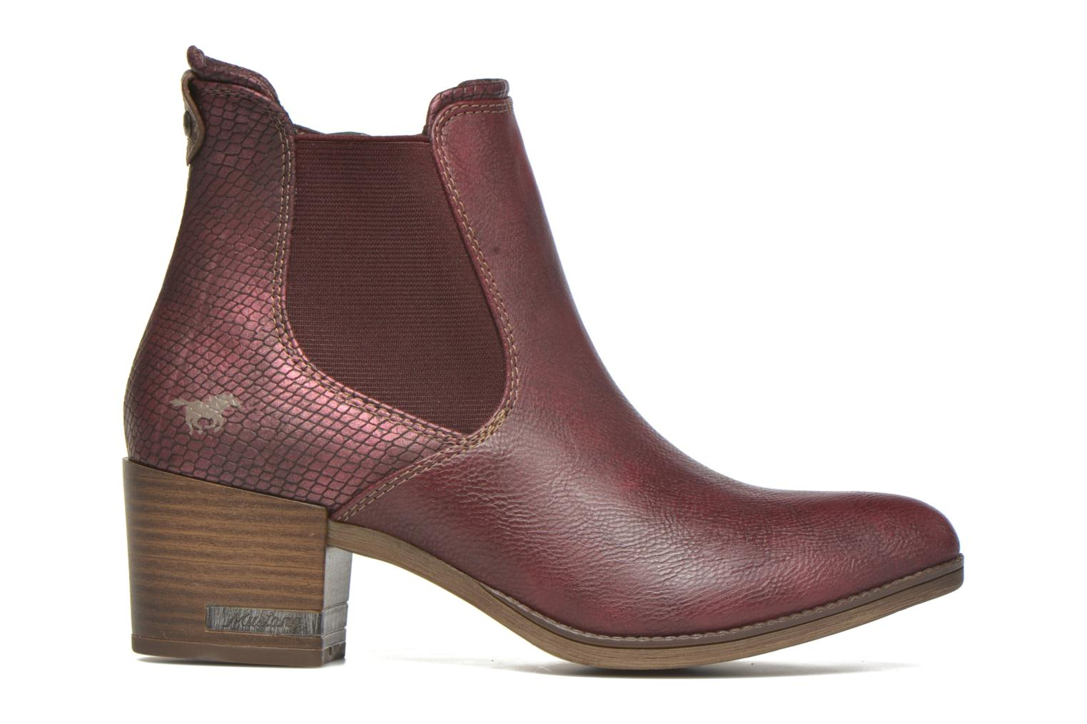 Ankle boots Mustang shoes Mustea Burgundy back view