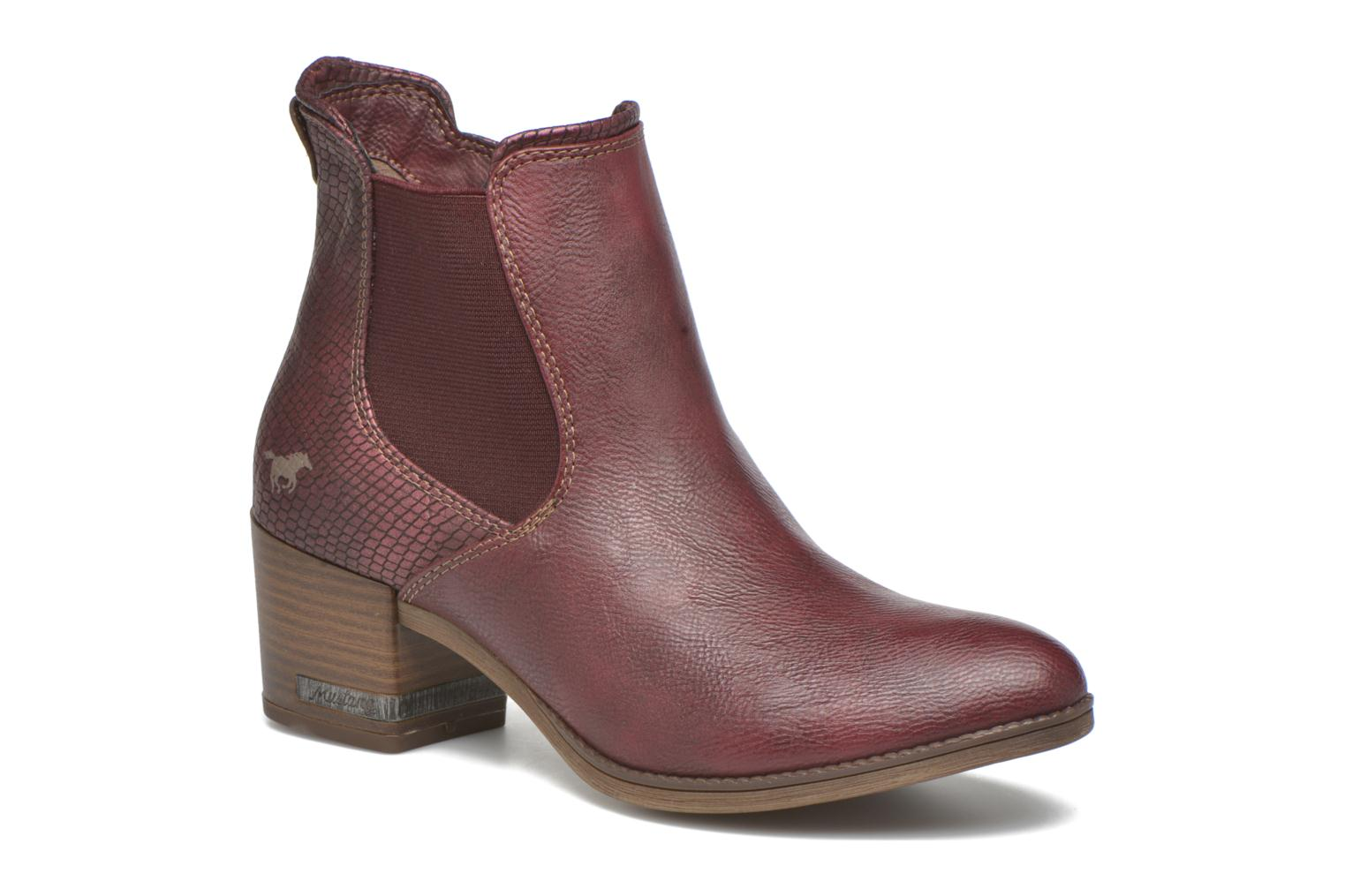 Ankle boots Mustang shoes Mustea Burgundy detailed view/ Pair view