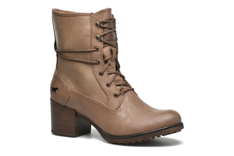 Bottines et boots Mustang shoes Muasta Marron vue détail/paire