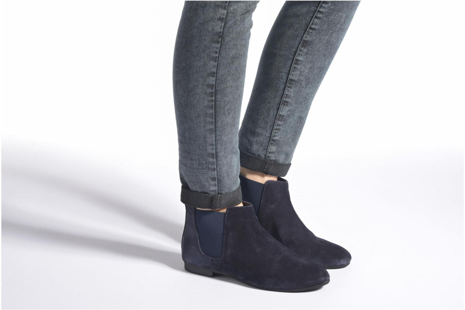 Ankle boots André Carrousel Blue view from underneath / model view