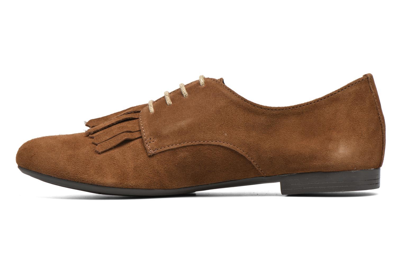 Snörade skor André Cheyenne Brun bild från framsidan