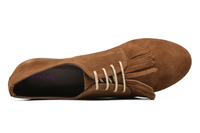 Snörade skor André Cheyenne Brun bild från vänster sidan