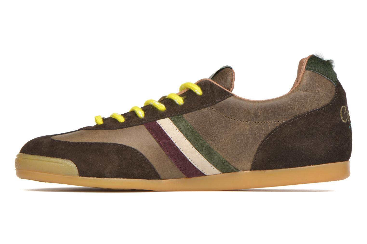 Trainers Serafini Flat Cortina Brown front view