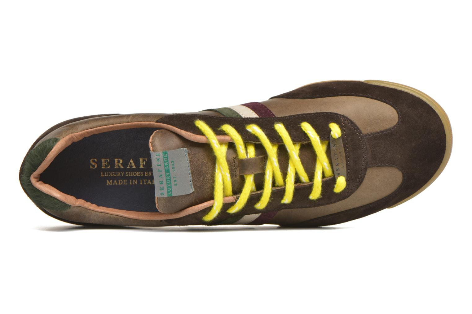 Trainers Serafini Flat Cortina Brown view from the left