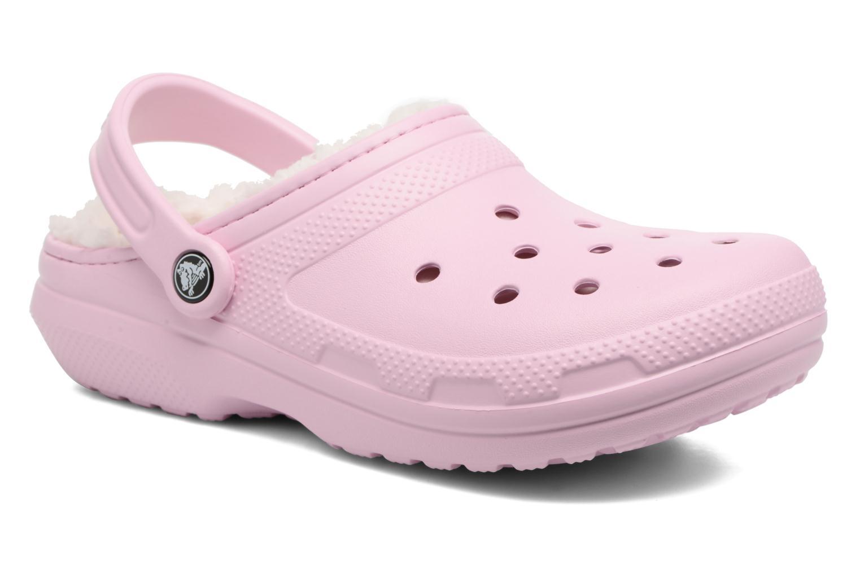 Zoccoli Crocs Classic Lined clog W Rosa vedi dettaglio/paio
