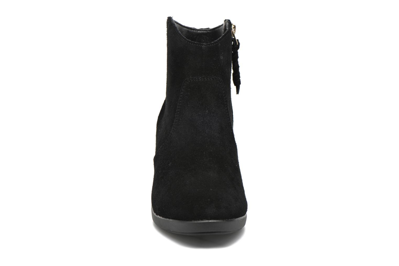 Bottines et boots Crocs Leigh Suede Wedge Bootie Noir vue portées chaussures