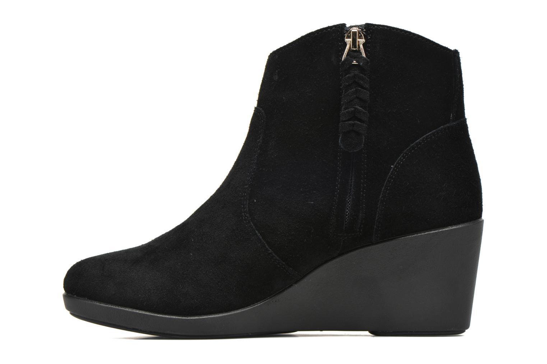 Bottines et boots Crocs Leigh Suede Wedge Bootie Noir vue face
