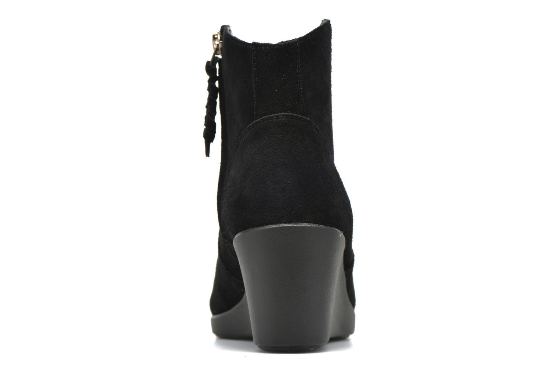 Bottines et boots Crocs Leigh Suede Wedge Bootie Noir vue droite