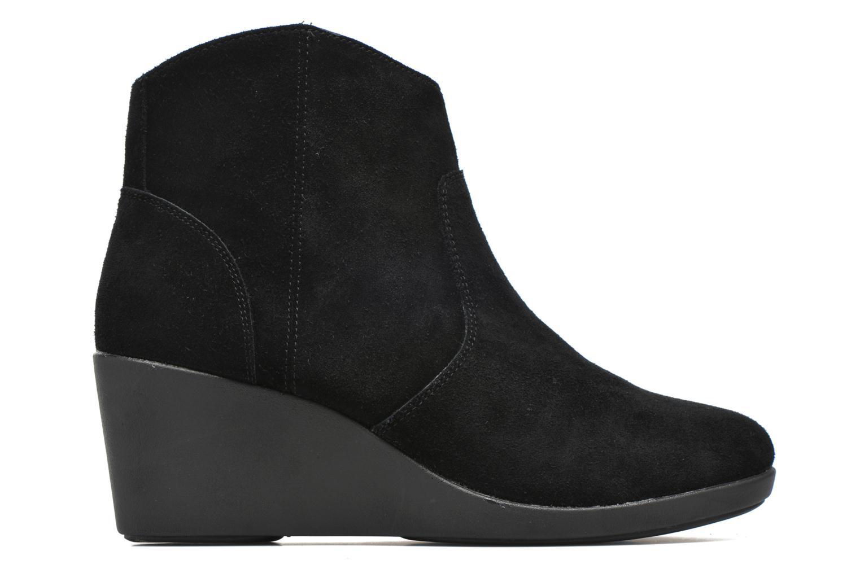 Bottines et boots Crocs Leigh Suede Wedge Bootie Noir vue derrière