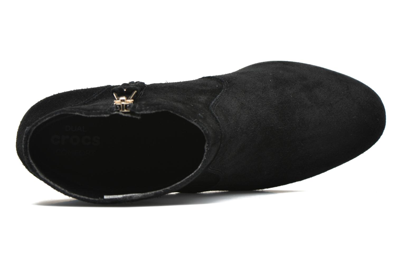 Bottines et boots Crocs Leigh Suede Wedge Bootie Noir vue gauche