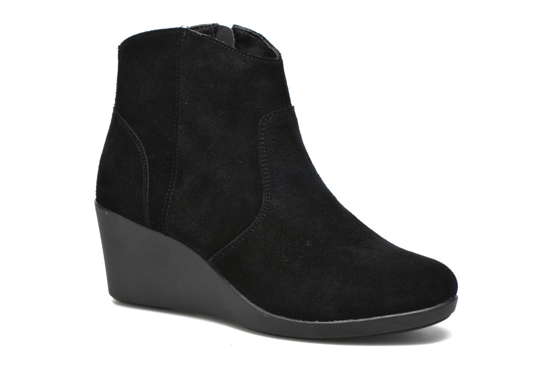 Bottines et boots Crocs Leigh Suede Wedge Bootie Noir vue détail/paire