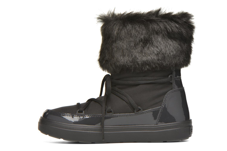 Botines  Crocs Lodgepoint Lace Boot W Negro vista de frente